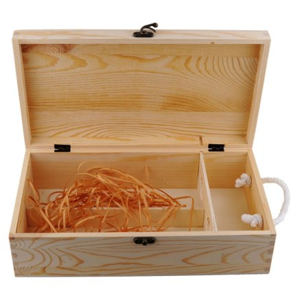 双支松木盒