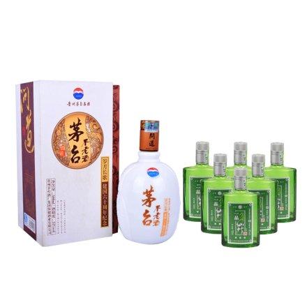 (清仓)53°不老酒问道+一品仙竹小竹板(6瓶)