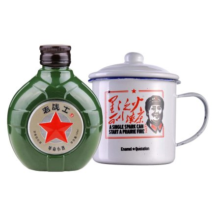 52°老战士革命小酒125ml+老战士纪念搪瓷杯