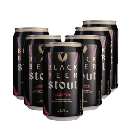 韩国海特黑啤酒355ml(6瓶装)