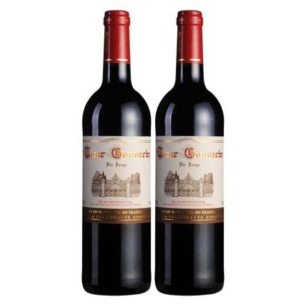法国勃朗古堡干红葡萄酒750ml(双瓶装)