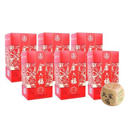38°金六福红色经典500ml(6瓶)+喝酒骰子