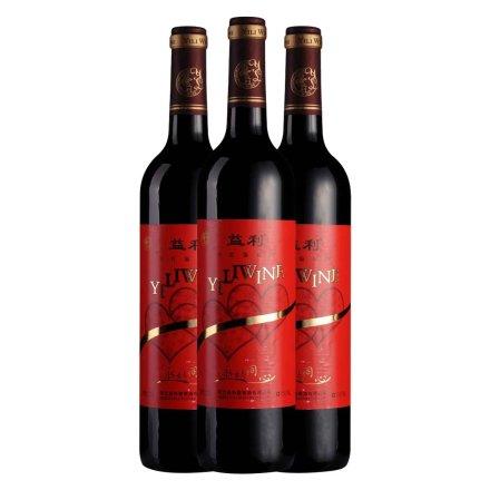 中国益利永结同心干红葡萄酒750ml(3瓶装)