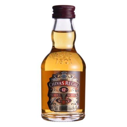 40°芝华士12年苏格兰威士忌酒版50ml