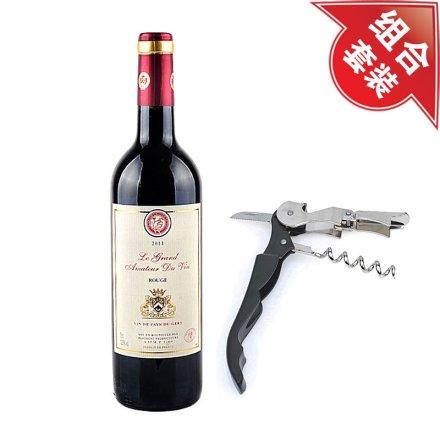 法国酒星干红葡萄酒+黑色酒刀