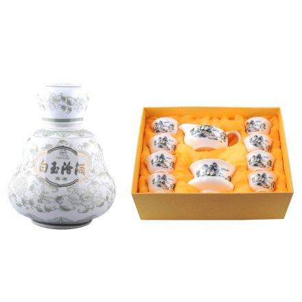 45°白玉汾酒1000ml+生活品味茶器