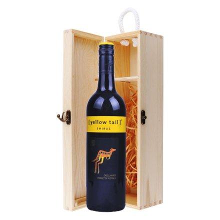 澳大利亚黄尾袋鼠西拉干红葡萄酒单支松木盒