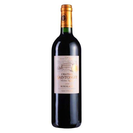 【清仓】法国波尔多村庄级AOC圣托日堡老藤2009干红葡萄酒