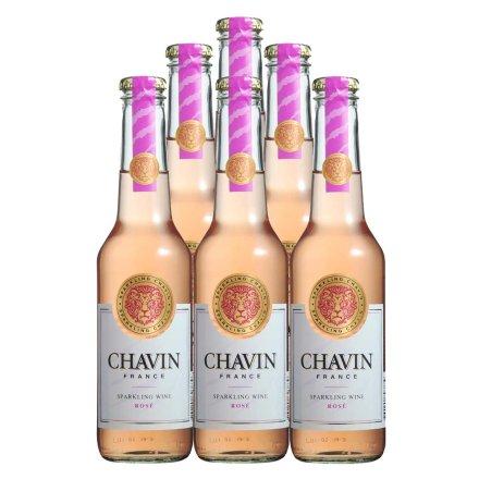 法国柏翠诗红玫瑰起泡葡萄酒275ml(6瓶套装)