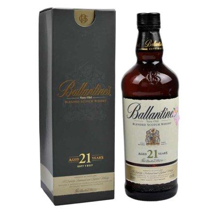 (清仓)43°英国百龄坛21年苏格兰威士忌700ml