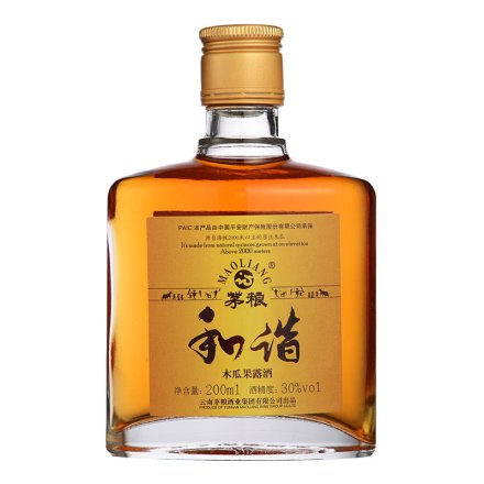 【清仓】30°茅粮和谐木瓜果露酒 200ml
