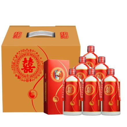 53°茅台镇同乐春囍酒500ml(6瓶装)