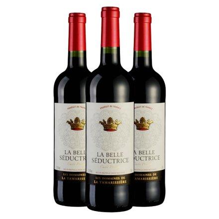 法国塞德斯佳酿干红葡萄酒750ml(3瓶装)