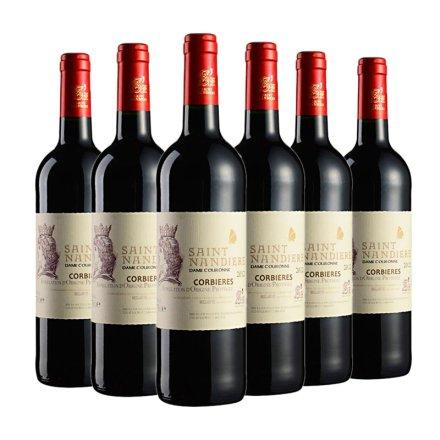 法国圣男雅黛皇冠贵妇干红葡萄酒750ml(6瓶装)