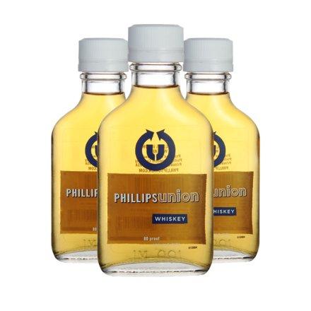 40°菲利普斯原味威士忌(小)100ml(3瓶装)