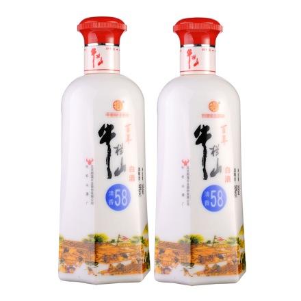 58°百年牛栏山清香白酒500ml(双瓶装)