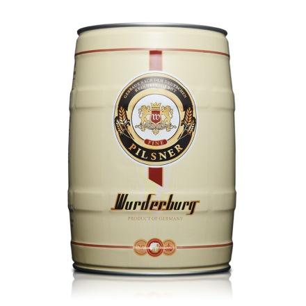 【清仓】德国沃德古堡黄啤酒5L