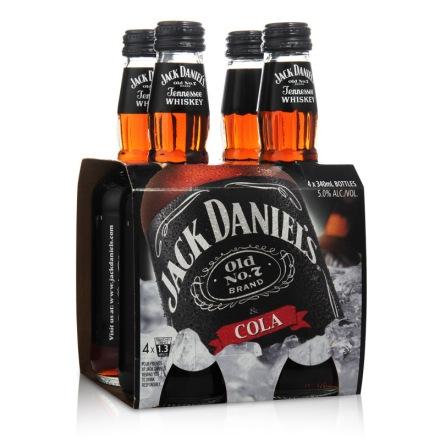 5°杰克丹尼可乐威士忌340ml*4