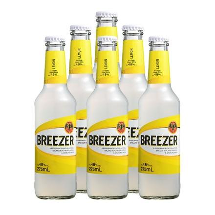 4.8°百加得冰锐朗姆预调酒柠檬味275ml(6瓶装)