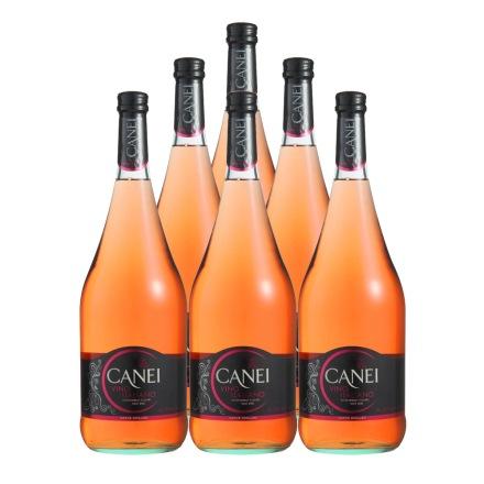 意大利圣霞多肯爱Canei玫瑰红半甜微起泡葡萄酒1500ml(6瓶装)