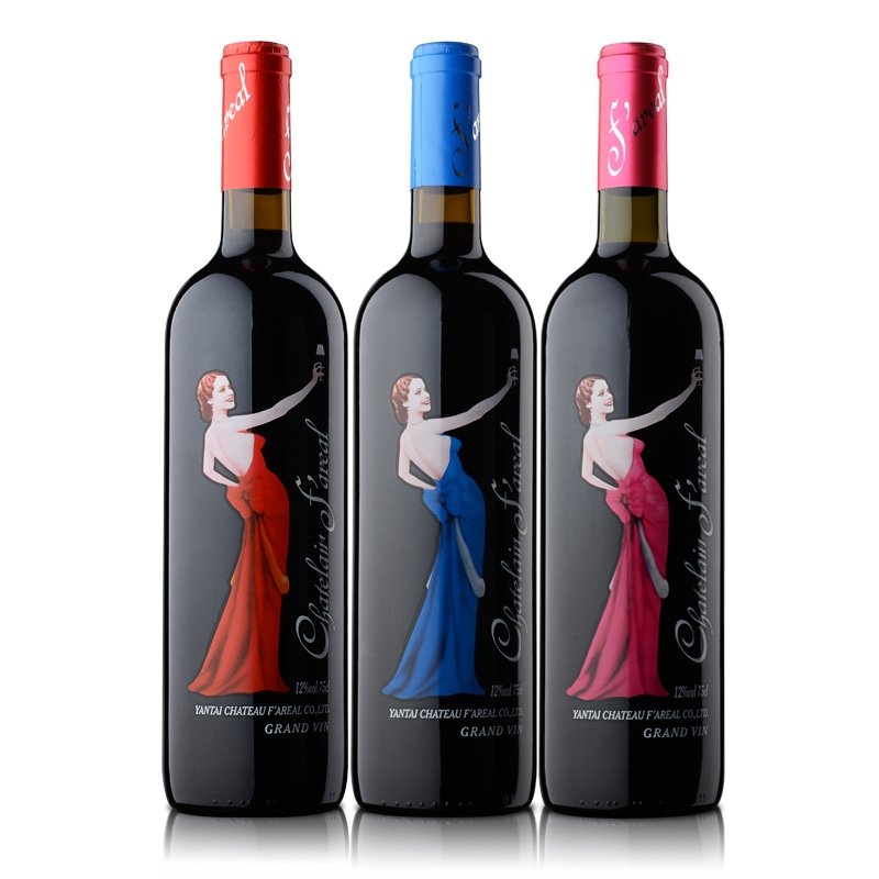 法国法莱雅天使干红葡萄酒(粉标+蓝标+红标)750ml