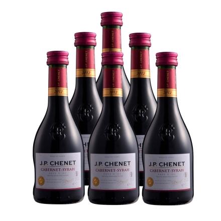 【清仓】法国香奈赤霞珠-西拉干红葡萄酒187ml(6瓶装)