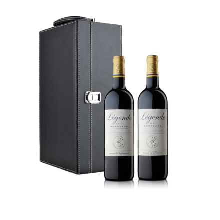 法国拉菲传奇波尔多法定产区红葡萄酒双支礼盒装