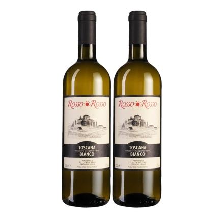 意大利红与红托斯卡纳干白葡萄酒(双瓶装)