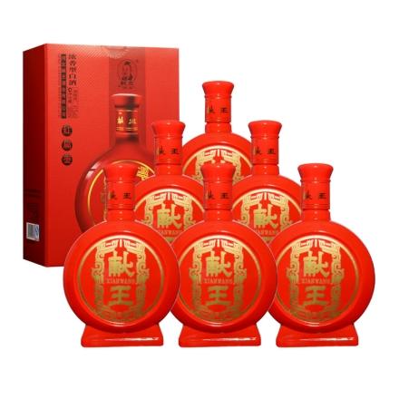 41°献王红扁壶500ml(6瓶装)