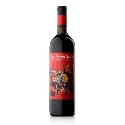 【清仓】12.5°澳洲詹姆士漂客水手2013赤霞珠干红葡萄酒 红标750ml