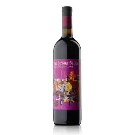 【清仓】12.5°澳洲詹姆士漂客水手2013赤霞珠干红葡萄酒 紫标750ml