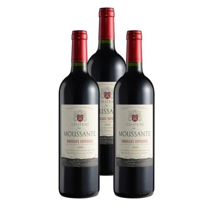 法国慕萨特庄园干红葡萄酒750ml(3瓶装)