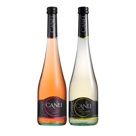 意大利进口肯爱玫瑰红低泡白起泡酒750ml(双瓶装)