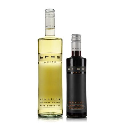 德国Bree雷司令半甜型白葡萄酒750m+Bree梅洛红葡萄酒250ml