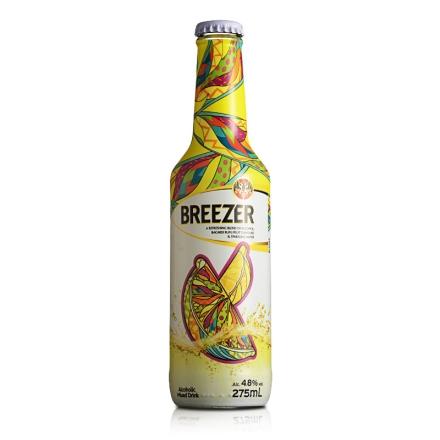 4.8°百加得冰锐假日瓶版-柠檬味275ml