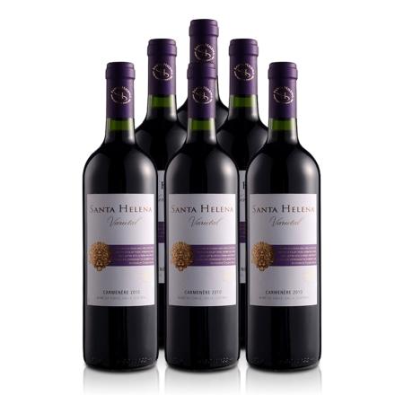 智利圣海莲娜卡曼尼干红葡萄酒750ml(6瓶装)