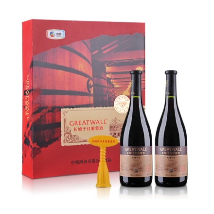 中国长城干红葡萄酒精品解百纳(钻石系列)双支礼盒