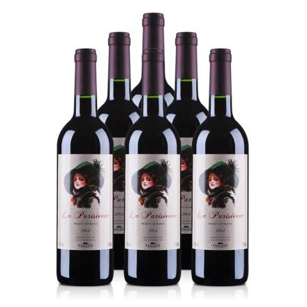 法国巴黎丽人干红葡萄酒(6瓶装)