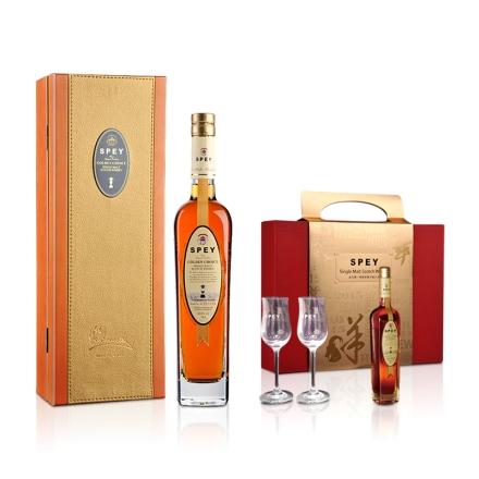 40.8°英国诗贝(SPEY)皇金精选单一纯麦苏格兰威士忌700ml+欧文羊年礼包