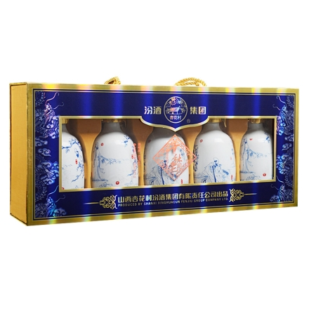 53°汾酒集团千秋老酒(唐宋元明清)礼盒245ml*5