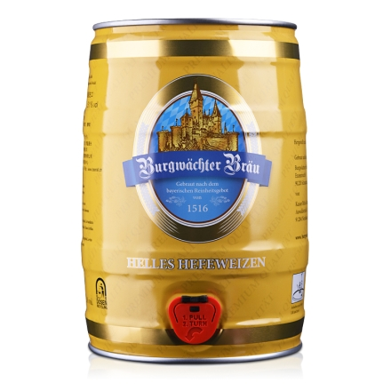 德国欢伯勃朗原浆小麦白啤酒5L