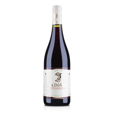 法国原瓶进口AOC德尔菲娜干红葡萄酒750ml