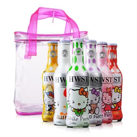 4.8° 海维斯特朗姆预调酒6种口味装(猫咪派对)275ml*6+海维斯特多用途手提袋(乐享)