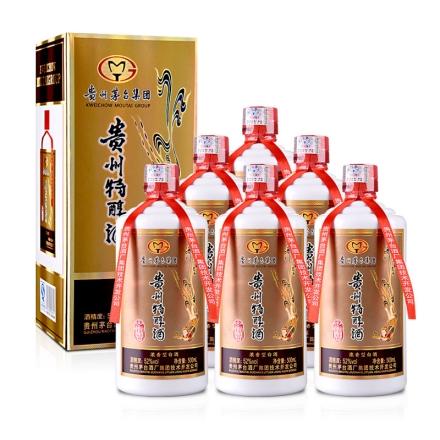52°茅台集团技开公司贵州特醇珍品500ml(6瓶装)