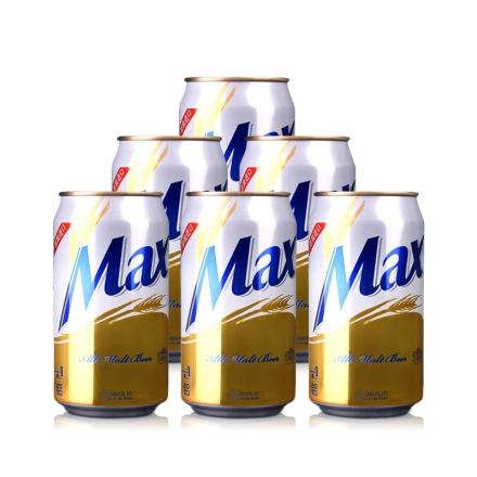 韩国4.5°海特麦思啤酒Max Beer355ml(6瓶装)