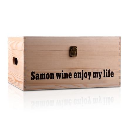 集美红酒木箱包装箱六支装*6(乐享)