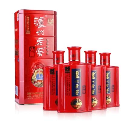 52°泸州老窖头曲红色礼盒