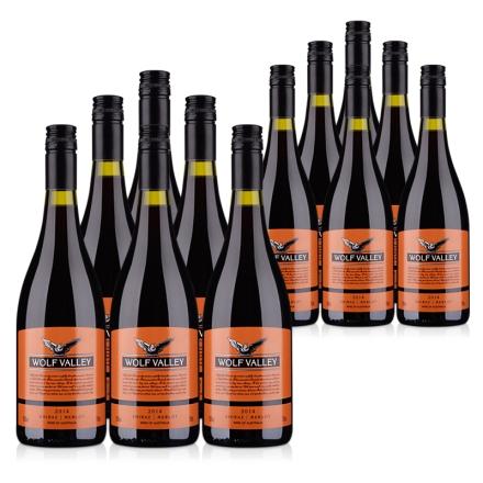 【清仓】澳大利亚詹姆士橙标混酿干红葡萄酒750ml(乐享)(12瓶装)