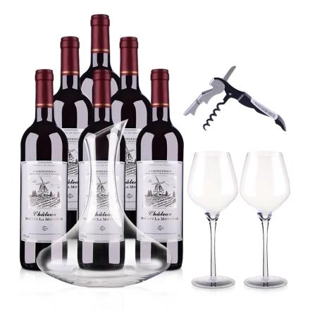 法国蒙迪红磨坊酒庄品酒礼包干红葡萄酒