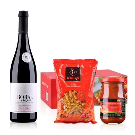 西班牙胡安博巴尔干红葡萄酒750ml+公鸡乐享装